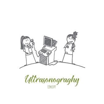 Ilustração do conceito de ultrassonografia
