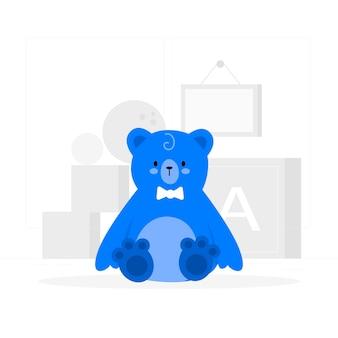 Ilustração do conceito de urso de pelúcia
