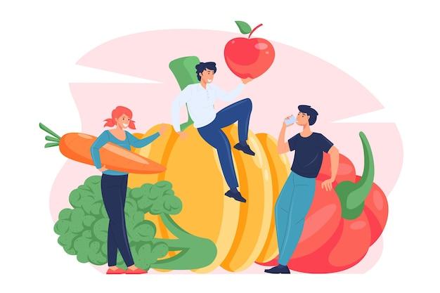Ilustração do conceito de vegetarianismo