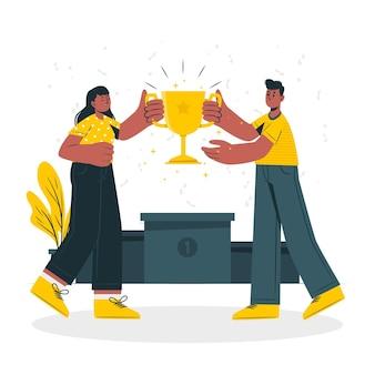 Ilustração do conceito de vencedores