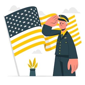 Ilustração do conceito de veteranos