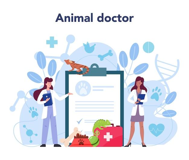 Ilustração do conceito de veterinário de animais de estimação