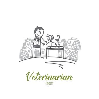Ilustração do conceito de veterinário