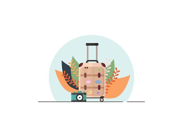 Ilustração do conceito de viagem em estilo simples