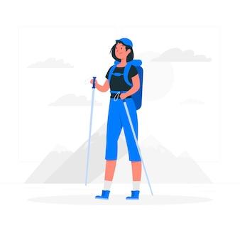 Ilustração do conceito de viagem