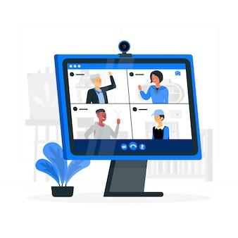Ilustração do conceito de vídeo em grupo