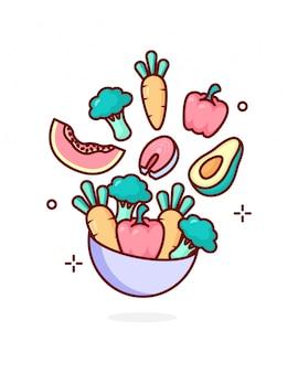 Ilustração do conceito de vitamina a