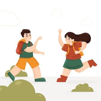 Ilustração do conceito de volta às aulas