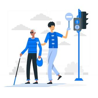 Ilustração do conceito de voluntariado