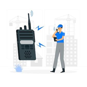 Ilustração do conceito de walkie talkie