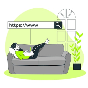 Ilustração do conceito de www