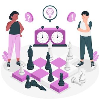 Ilustração do conceito de xadrez
