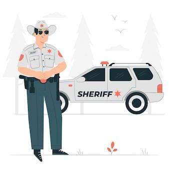 Ilustração do conceito de xerife