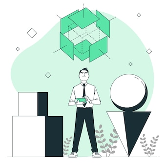 Ilustração do conceito desconstruído