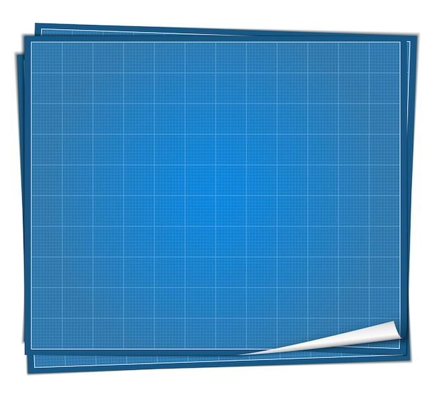 Ilustração do conceito do blueprint paper