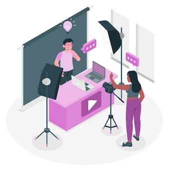 Ilustração do conceito do criador de conteúdo