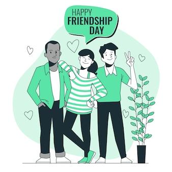 Ilustração do conceito do dia da amizade