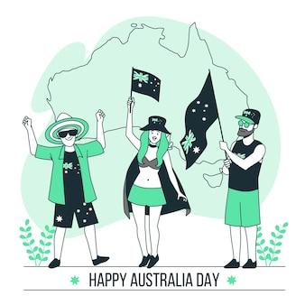 Ilustração do conceito do dia da austrália