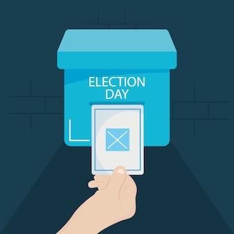 Ilustração do conceito do dia da eleição