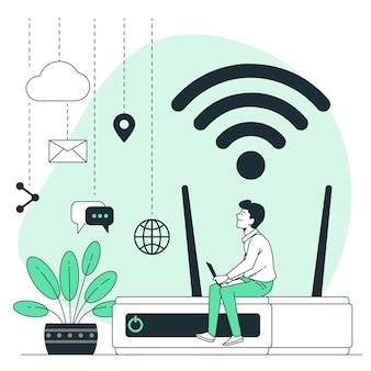 Ilustração do conceito do dia da internet