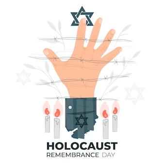 Ilustração do conceito do dia da lembrança do holocausto