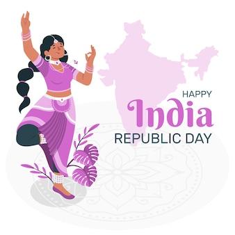 Ilustração do conceito do dia da república da índia