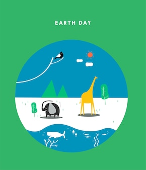 Ilustração do conceito do dia da terra
