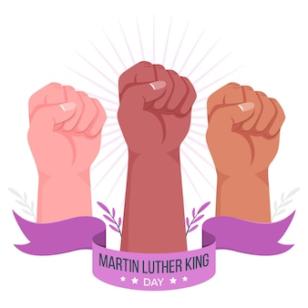 Ilustração do conceito do dia de martin luther king
