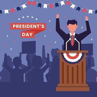 Ilustração do conceito do dia do presidente