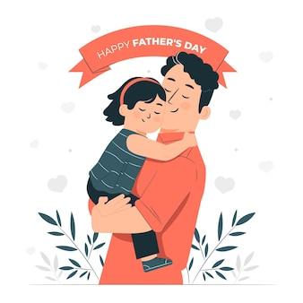 Ilustração do conceito do dia dos pais
