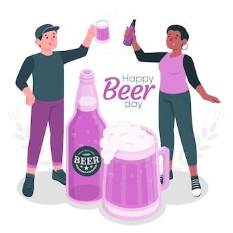 Ilustração do conceito do dia internacional da cerveja