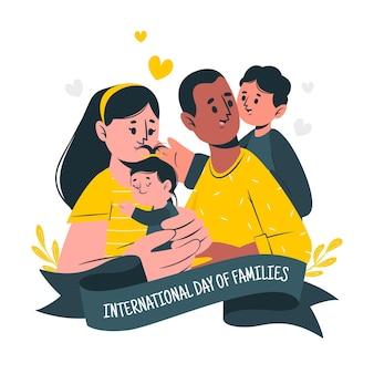 Ilustração do conceito do dia internacional das famílias
