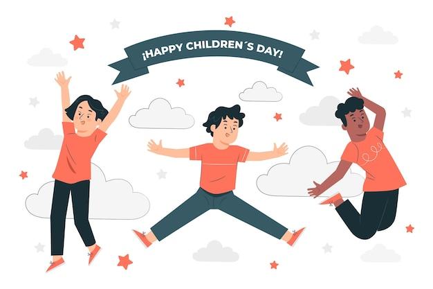 Ilustração do conceito do dia mundial da criança