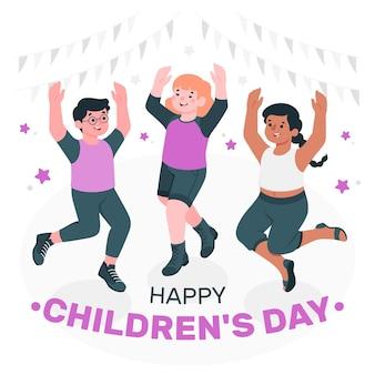 Ilustração do conceito do dia mundial da criança Vetor grátis