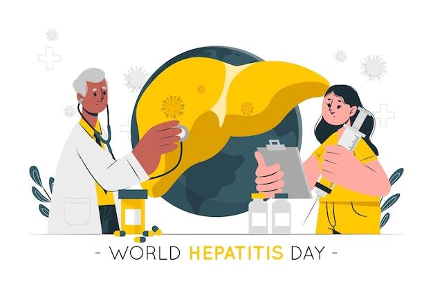 Ilustração do conceito do dia mundial da hepatite