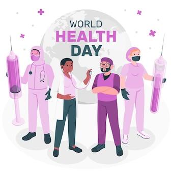 Ilustração do conceito do dia mundial da saúde