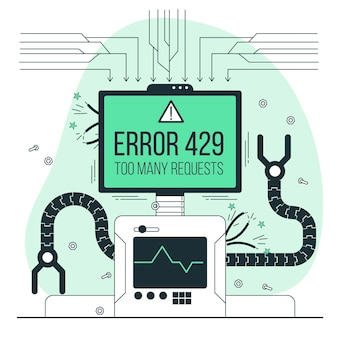 Ilustração do conceito do erro 429