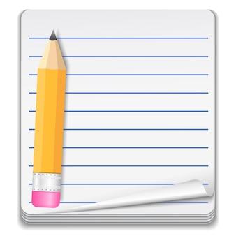 Ilustração do conceito do ícone do caderno