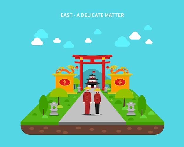 Ilustração do conceito do leste