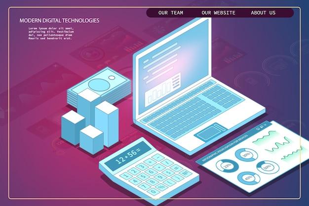 Ilustração do conceito do sistema de gerenciamento de conteúdo