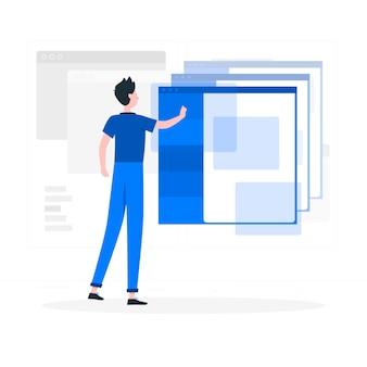 Ilustração do conceito do windows