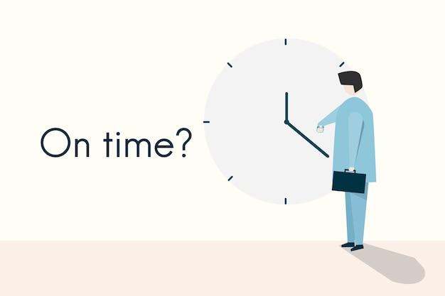 Ilustração do conceito e citação no tempo?