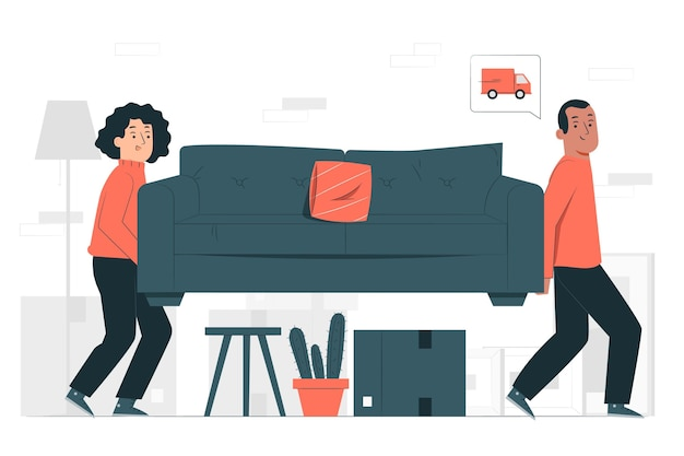 Ilustração do conceito em movimento