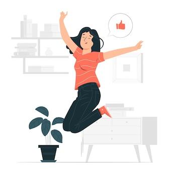 Ilustração do conceito entusiasmado