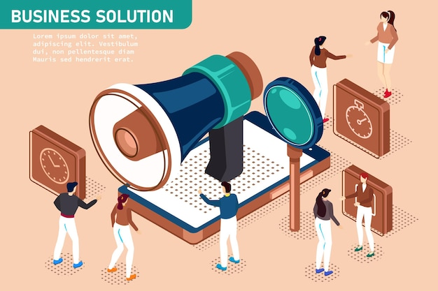 Ilustração do conceito isométrico de design moderno plano