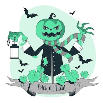 Ilustração do conceito jack o'lantern