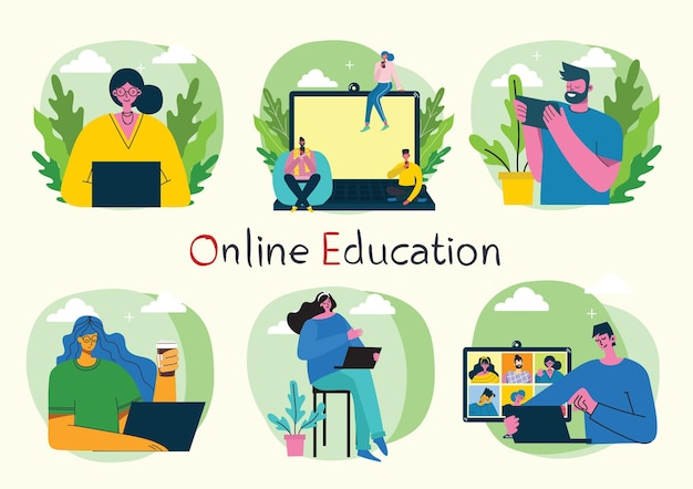 Ilustração do conceito online de webinar.