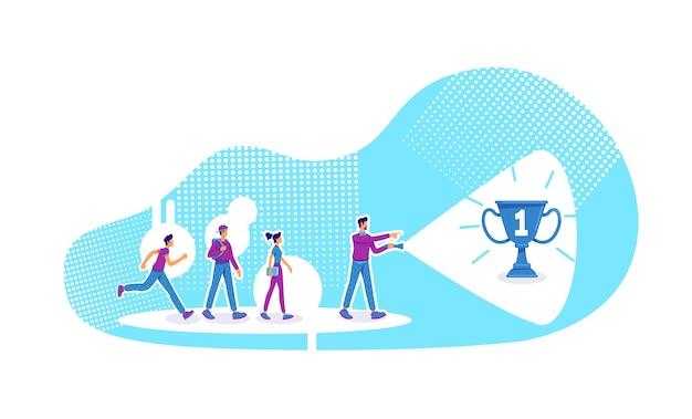 Ilustração do conceito plano de liderança