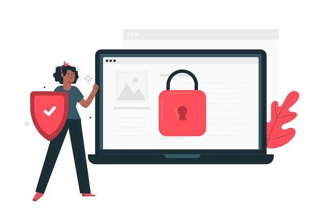 Ilustração do conceito seguro