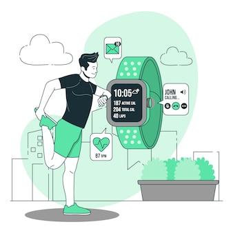 Ilustração do conceito smartwatch